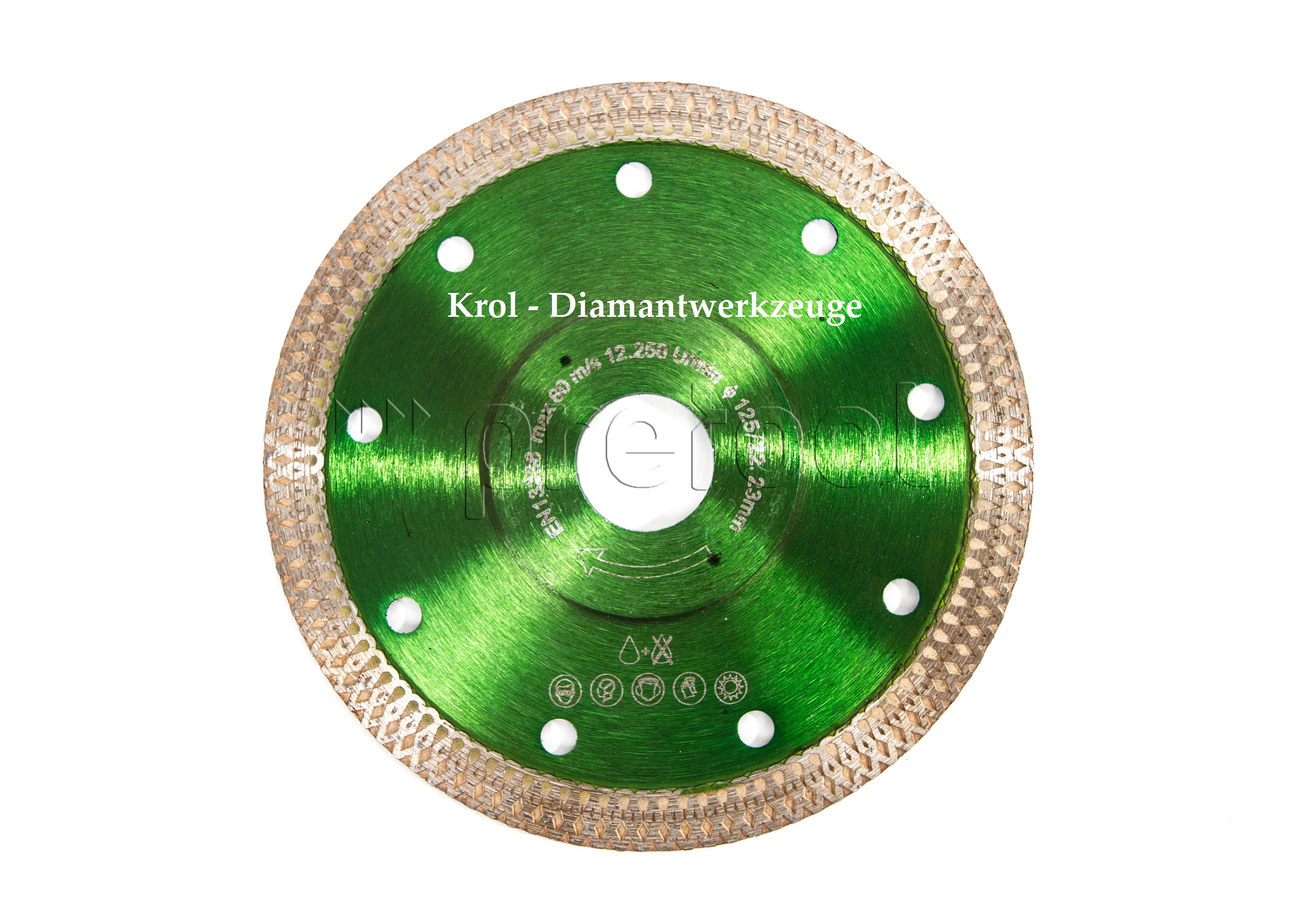 Krol Diamantwerkzeuge Diamant Trennscheibe Ø 125 mm für